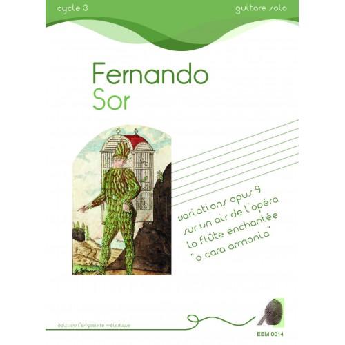 Fernando Sor, variations sur la flûte enchantée, doigtés Arnaud Sans