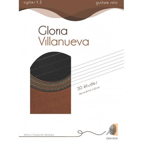 Gloria Villanueva - 30 études  2ème cahier